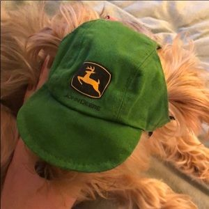 John Deere baseball style hat for small dog 🐶